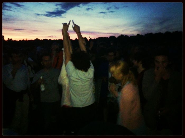 Berliners celebrate, as usual with teschno, the success of the 100% Tempelhofer Feld Stay Weird Cityscapes