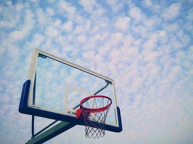 Good Day Blue Blue Sky So Beautiful ♥♥ BasketBallneverStops NightNight Life Is Beautiful My Campus Relaxing 曲阜师范大学