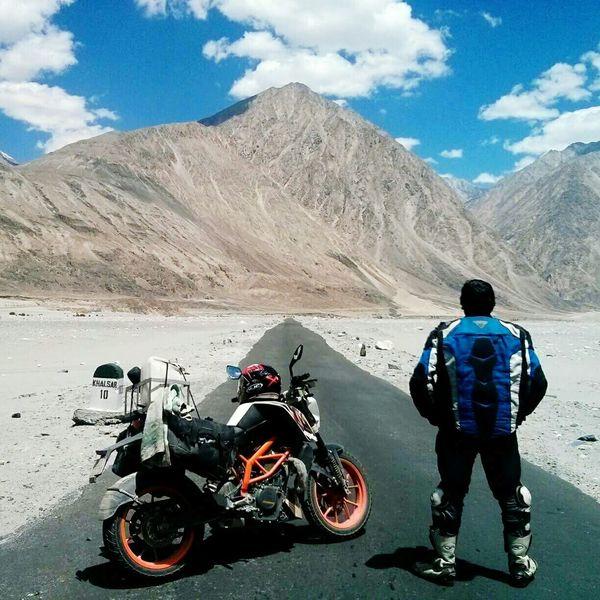 Nubra Valley, Diskit - Khalsar Road, Himalayas Motorcycles Adventure Himalayas, India Touring Traveling Desolate High Altitude