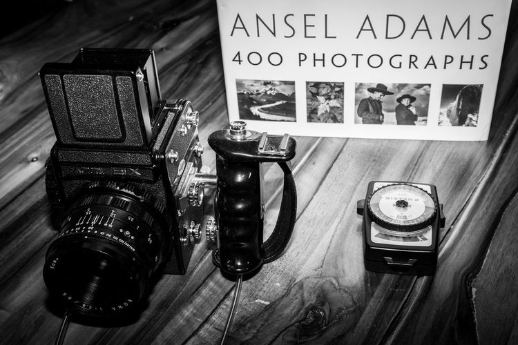 Kowa Six and Ansel Adams Analogue Ansel Adams Inspired Camera Classic Film Analog Blackandwhite Kowasix Lightmeter Mediumformat Nostalgia Photography Still Life Studio Shot Vintage