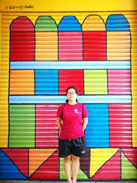 Face of fatty creature🤔 ART PAINTING Kuala Kubu Bharu Colorful Painting Weird Face Multi Colored Mid Adult One Person Standing Casual Clothing Portrait Vibrant Color