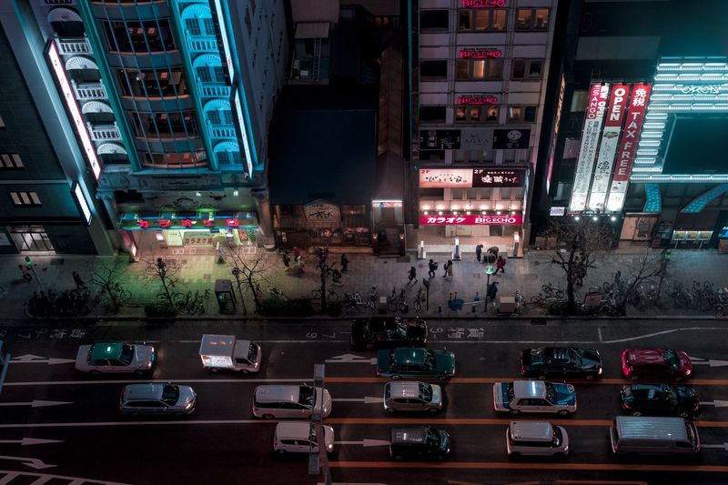 Japan Nagoya City view Architecture City Illuminated Night Building Exterior Mode Of Transportation Transportation Street Built Structure Car Communication Text City Life Road Sign Travel Land Vehicle No People City Street Motor Vehicle HUAWEI Photo Award: After Dark #urbanana: The Urban Playground