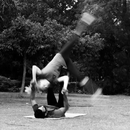 Acro Yoga Acro Yoga Adventure Club Blackandwhite Bnw Fitness Healthy Long Exposure Motion Outdoors Park Yoga Showcase July People Together Pivotal Ideas