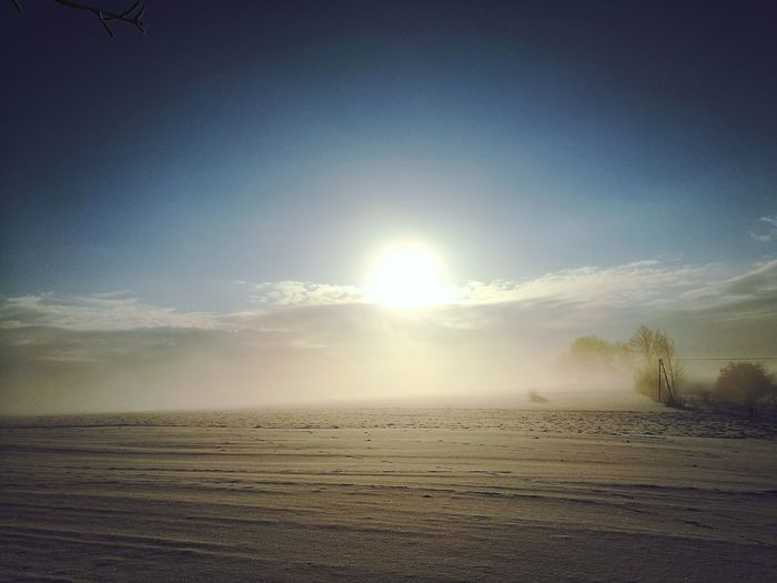 Sunset Sand Nature Outdoors Sky Beauty In Nature No People Sun Day Poland Winter Snow ❄ Glorious Moment Our Best Pics