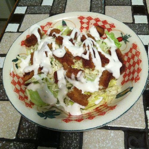 Chicken salads for dinner