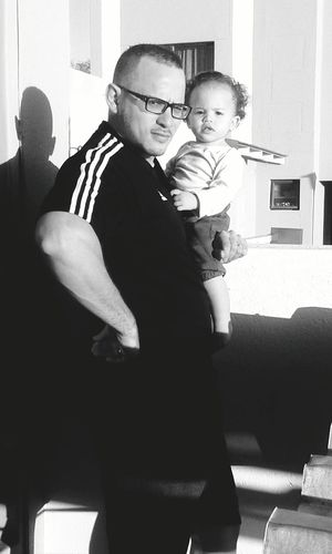 My hubby and baby...