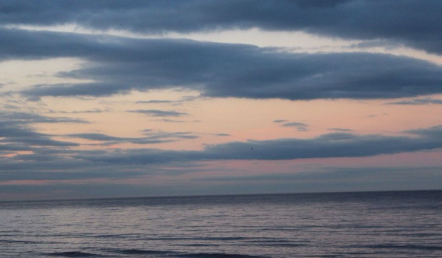 Sunset Sky over the Sea in Mablethorpe