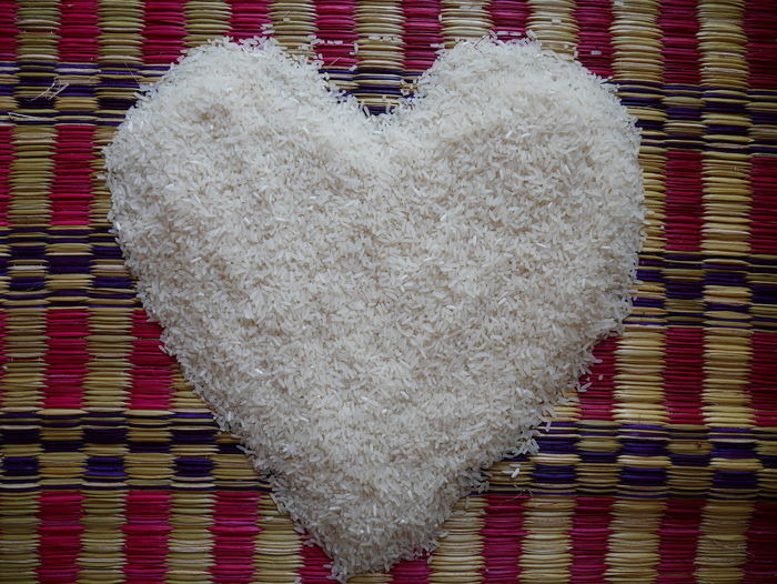 Rice heart Food And Drink Rice Backgrounds Close-up Concept Day Directly Above Famer Food Food And Drink Freshness Heart Heart Shape Indoors  No People Pattern Patterns Patterns & Textures Red Rice Heart Textile Textured  White Rice Wool