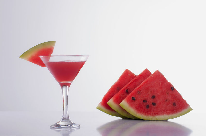 Cocktail Drink Food And Drink Freshness Melon Red Refreshment Still Life Studio Shot