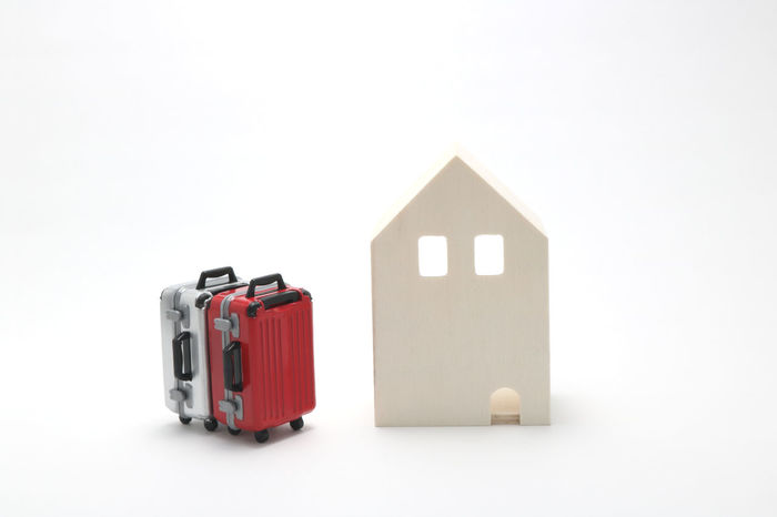 Home Innocence Trip Accommodation Bag Baggage Carry Bag Carry Case Guest House Hotel House Indoors  Leisure Activity Luggage Miniature No People Residential Building Stay Studio Shot Suitcase Suitcases Tourism Toy Travel White Background Indoors