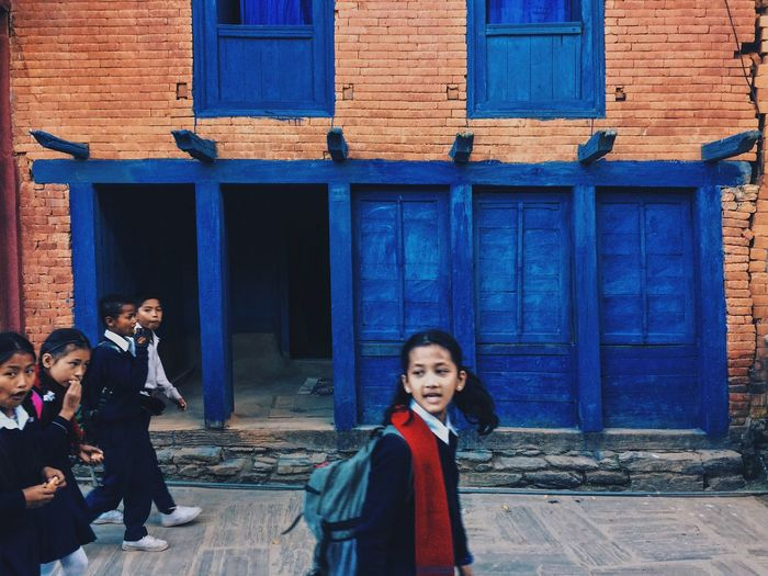 Nepal ASIA Asian  Asian Culture Asian Girl School Building Exterior People Girl Girls Children Children Photography