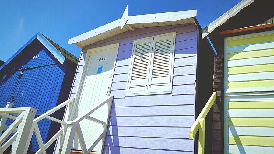 Beach Huts Blue Sky Day At The Beach Beach Day At The Beach British Seaside Seaside Window Shutters Light And Shadows Frinton-on-Sea United Kingdom Nikon D3200