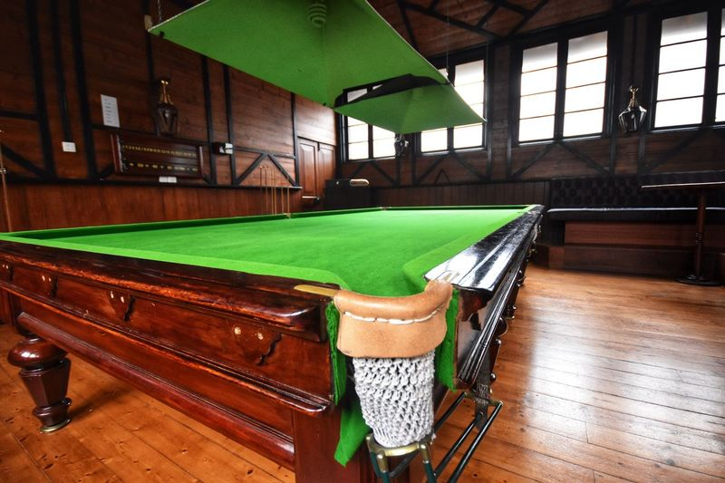 Snooker And Pool Table Indoors  Green Color No People Seat Window Wood - Material