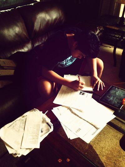 This boii doing his homework :)