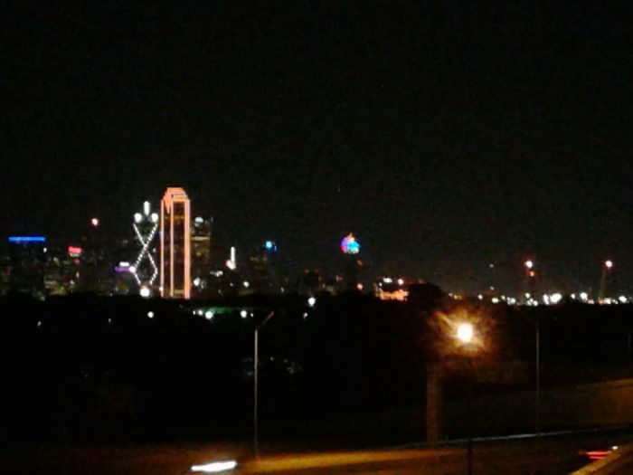 Dallas Texas Downtown Skyline Night Shot No People Outdoors Highway HWY 30 Buildings Skyscrapers Color EyeEmNewHere The Week On EyeEm Lights Nightlife City At Night Been There.