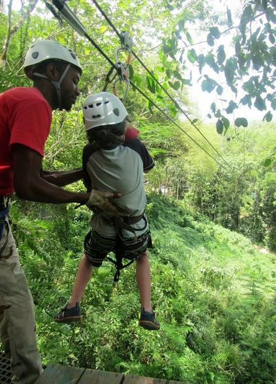 Capturing Freedom going for a jolly ride on the canopy zip line tour..... Mystic Mountain,Ocho Rios Jamaica.