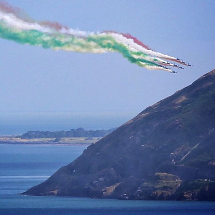 Flying into Bray loaded with colour. Airplane Airshow Bray, Ireland Brayairdisplay
