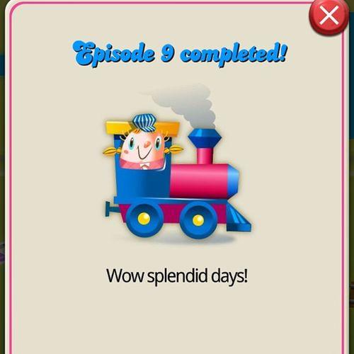 Completed in 2 days wow Candycrush Candycrushsaga Episode9 Splendiddays lovethisgamesweetsstage8completedaddictedtrainticket