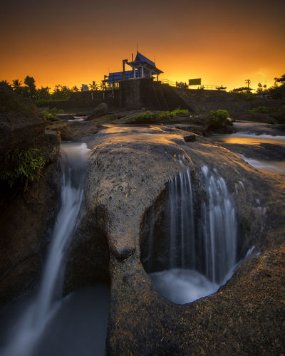 After Rain Architecture Built Structure Long Exposure Sunset Motion Nature Sky Water Building Exterior Scenics - Nature Travel Destinations Blurred Motion Beauty In Nature Flowing Water Travel Tourism Orange Color Environment Outdoors Flowing Sunlight Colors