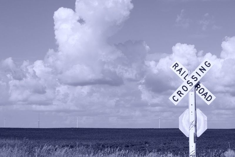 Clouds Summer Road Tripping Sea Road Sign Beach Communication Storm Cloud Sky Cloud - Sky Horizon Over Water Close-up Railroad Crossing Crossing Sign