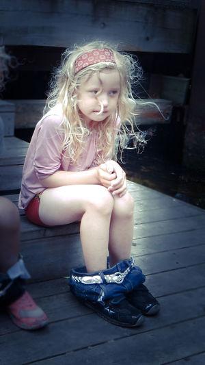 Cold Temperature Denmark Girl Habor Little Girl Midsommernight Rainy Days Wet