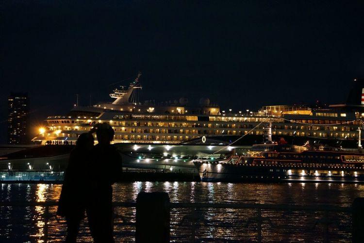 EyeEm Gallery Cruise Ship EyeEm Best Shots Lovers Ship Night View Love In The Air