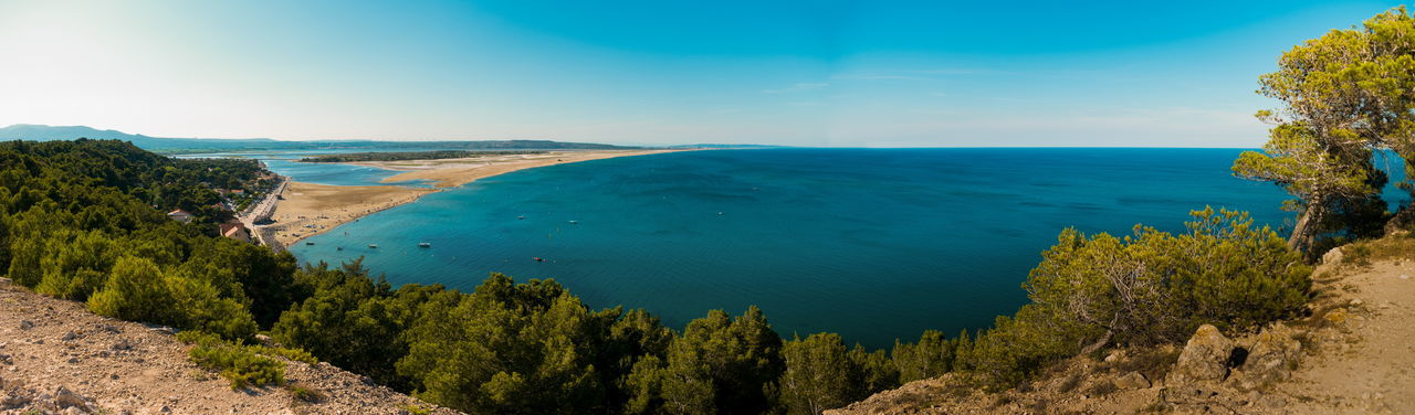 Beauty In Nature Calm Coastline High Angle View Nature No People Outdoors Panoramic Sea Seascape Tranquil Scene Water