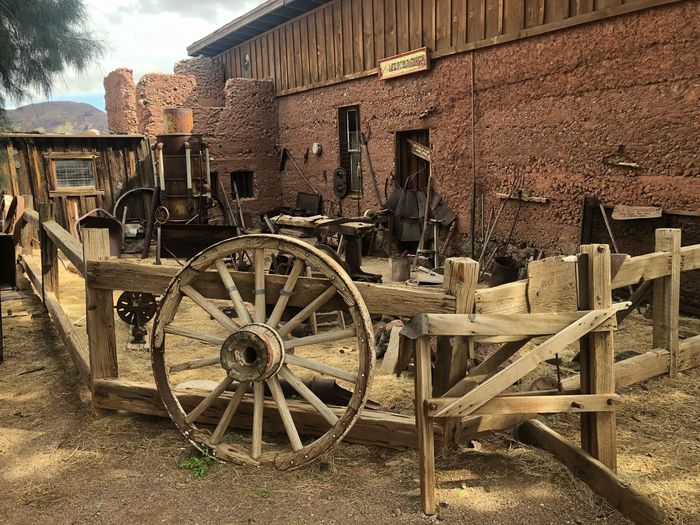 Old-fashioned Water Wheel Outdoors Wagon Wheel Day Watermill No People