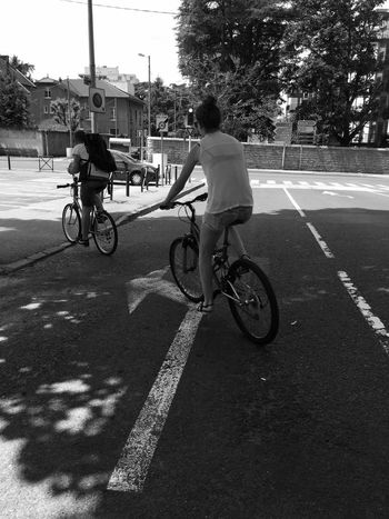 IPhoneography Transportation Real People Full Length Road Bicycle City Two People