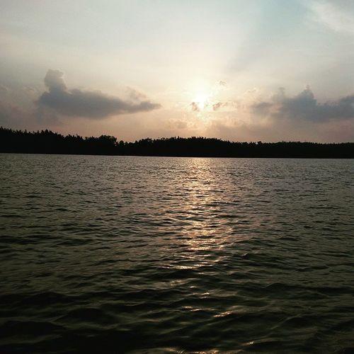 Sunrise 6morning SungaiMesuji Palembang sampling amdal exploreindonesia 🌞🌊