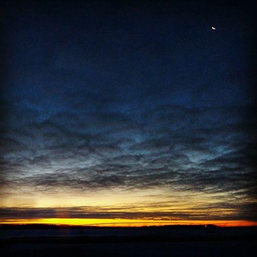 Caught the sun and moon rising together this morning! Sunrisestalker Moon Godsbeauty Nofilter Ilovesunrisesandsunsets
