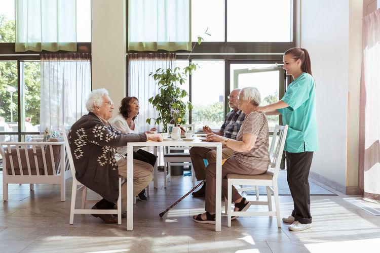 People on table