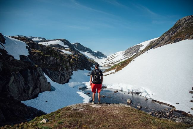 Taking Photos Enjoying Life Norway Landscape Selfportrait Summer Snow