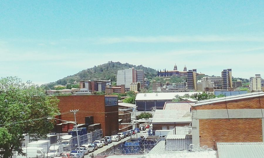 View from church Downtown Pretoria South Africa