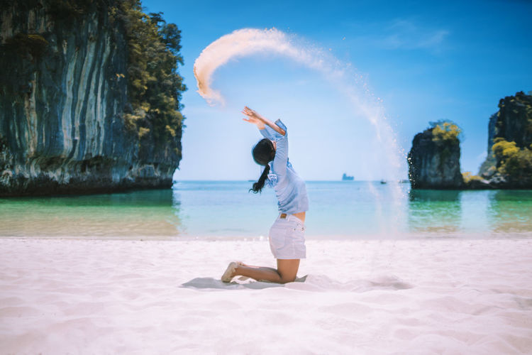 I need vitamin sea.🌊🏝🐟 Water One Person Sea Beach Real People Leisure Activity Sky Land Lifestyles Nature Beauty In Nature Casual Clothing Motion Full Length Scenics - Nature Holiday Day Sand Vacations Human Arm Outdoors Arms Raised Sand Dune Sandy Beach Sandwich Sandstone Woman Woman Portrait Woman Who Inspire You Portrait Nature Nature_collection Nature Photography Naturelovers Nature On Your Doorstep Landscape Light And Shadow Thailand Thai Thailand_allshots Thai Food Krabi Krabi Thailand Krabi, Thailand Vintage Blue Blue Sky Seascape Sea And Sky Sea Life