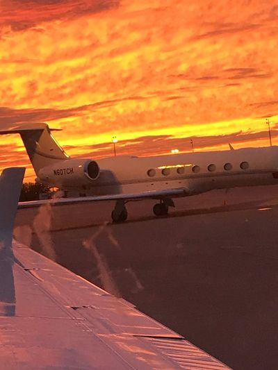 Sunset DFW Transportation Sunset Mode Of Transportation Sky Orange Color Cloud - Sky Airplane Airport Dusk Airport Runway No People Nature Aircraft Wing Air Vehicle Aerospace Industry Travel Outdoors