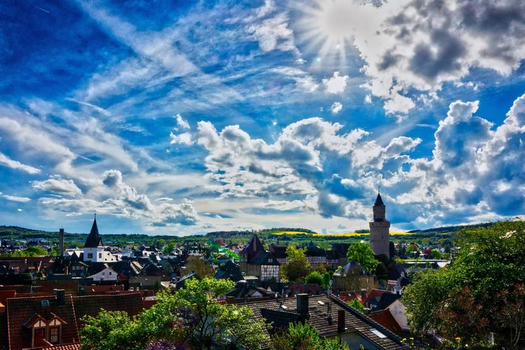 My Hometown Architecture Building Exterior Built Structure High Angle View Cityscape Cloud - Sky Sky City Outdoors Day No People Panoramic Travel Destinations Tree Nature Idstein AMP PICTURES