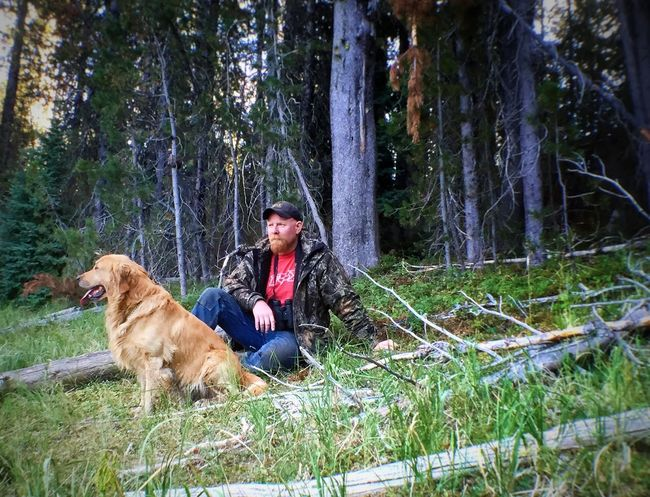 My husband and Cooper Forest Tree WoodLand Dog Domestic Animals Pets Full Length Mammal Tree Trunk Togetherness Tourist Non-urban Scene Vacations Side View Casual Clothing Person Nature Tourism Growth Tranquility Relaxing Outdoors