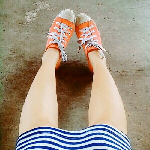 Skirts and Sneakers go well together That's Me First Eyeem Photo Check This Out Stripes Pattern skirt