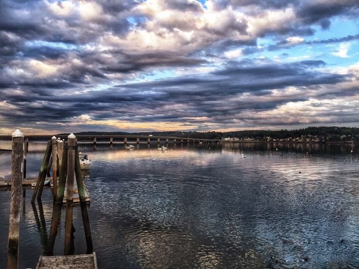 Water Waterfront Tranquility On The Water Shoreline My Town Bridge CarolSharkeyPhotography Maine