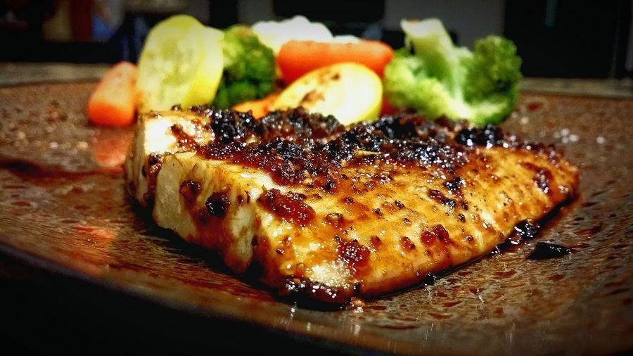 Ginger-Glazed Mahi Mahi My World Of Food Ginger Seafood Mahi Mahi Veggies BAM! Foodie Chef Howard HCII Food