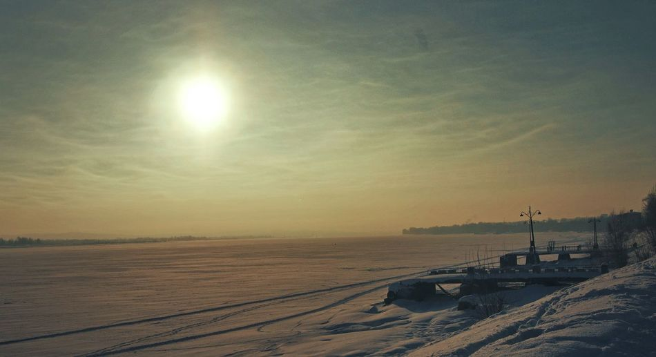 Sunset Beach Beauty In Nature Russian Nature Perm City Perm Cold River Russia Russian Winter Nature Wintertime Cold Temperature Winter Snow