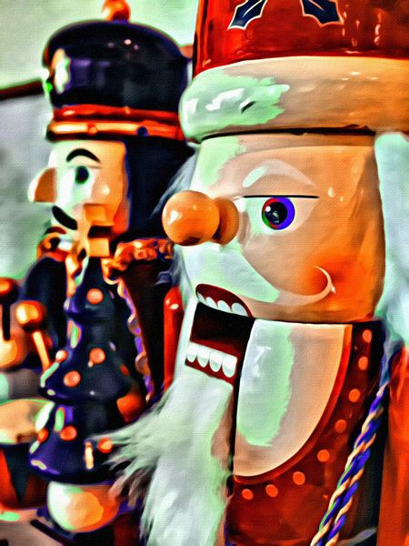 Nutcrackers IPhoneography Christmas Portrait Painter Christmas Carols IPSXmas missed this one for last week!