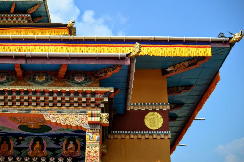 High Section Of Temple Against The Sky