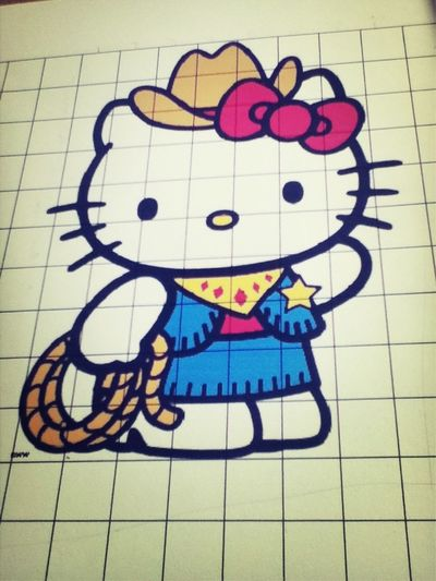 Soo I Decide It to Draw Hello Kitty cow Girl :) I hope it Come out the same ^.<