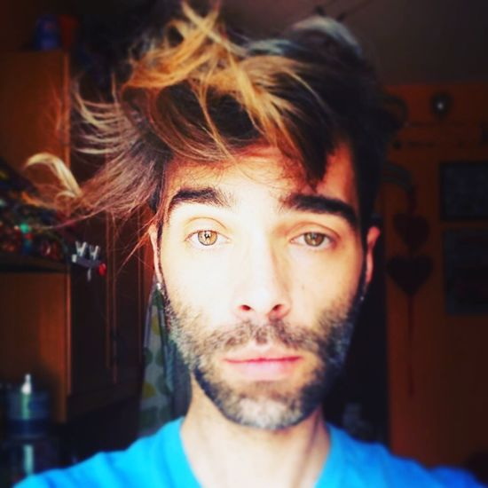 This hair Capelli I Am Perry Scruffygay Scruff Hair Influence Boys Fashion Gayboy Portrait Looking At Camera Front View Beard One Person Indoors  Headshot Real People Close-up People Young Adult Home Interior