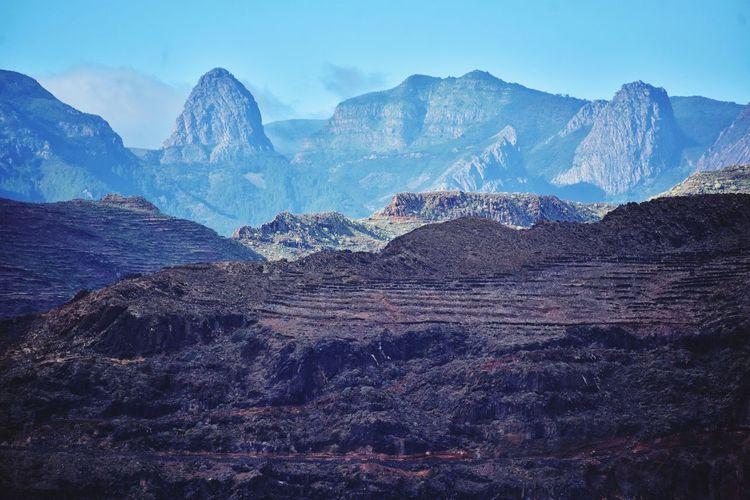 La gomera canary island landscape