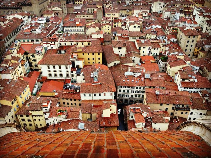 View from the dome of Florence's majestic cathedral, looking out over the terracotta roofs of the city of Florence Tuscanygram Tuscany Landscape Italy View Of Florence View From Duomo Duomo Di Firenze Cathedral Florence Italy Florence Architecture Building Exterior No People Day Built Structure Outdoors