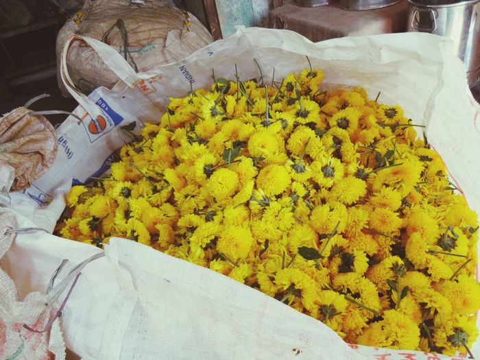 Bag Of Flowers Market Yellow Flowers India