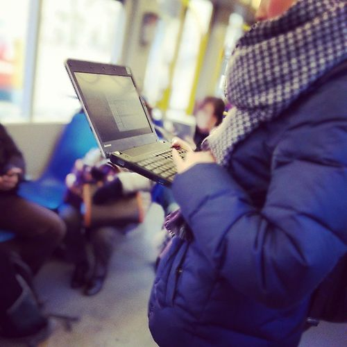 The smartphone and tablet are dead, long live the laptop. ? There was a time when we used smartphones and later tablets in the tram. ? Köln Cologne Kvb Linie1